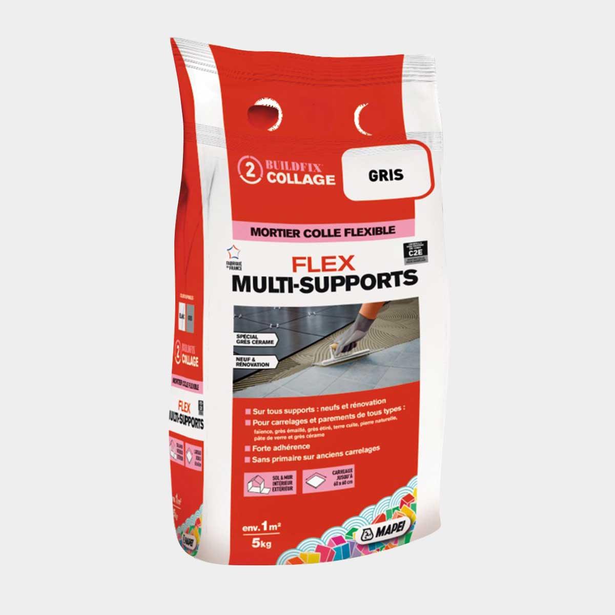 Mortier Colle Flex Multisupport C2e Gris 5 Kg Brico Depot