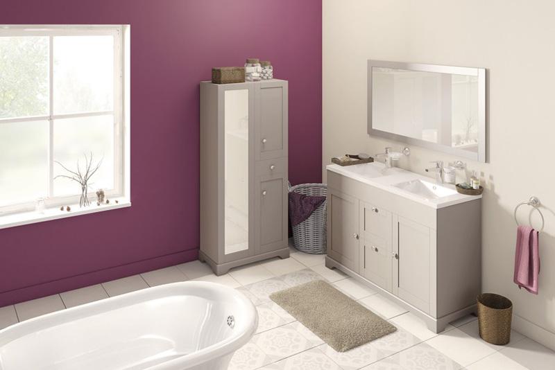 meuble salle de bain couleur taupe charme brico depot