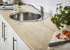 plan de travail de cuisine en bois