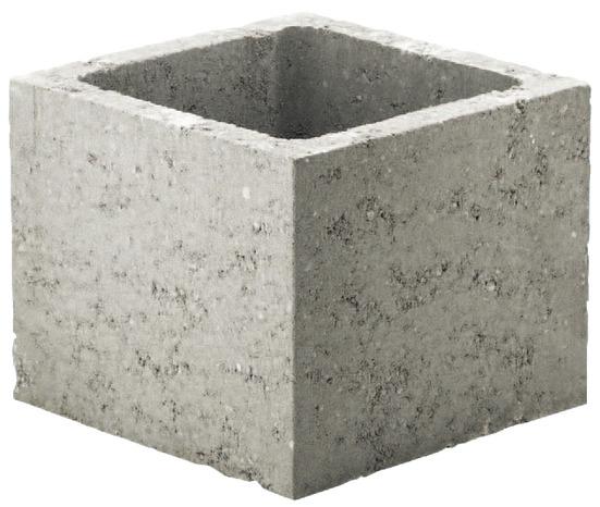 pilier en beton gris l 20 x h 20 x p
