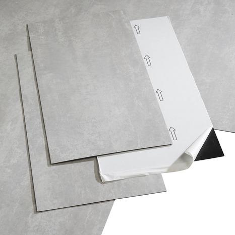 Dalle Pvc Adhesive Pop Rock Gris Clair L 60 X L 30 5 Cm Brico Depot