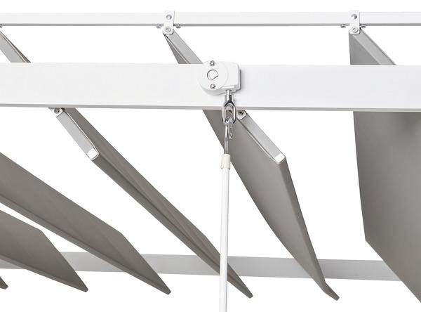pergola aluminium beloye 3 60 x 3 m