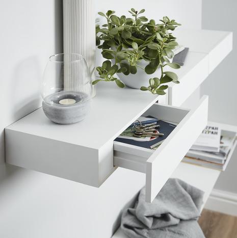 tablette blanche avec tiroir 60cm