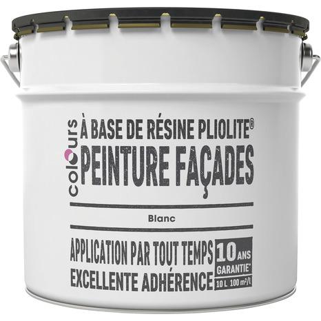 Peinture Facade Pliolite Blanc Mat 10 L Brico Depot