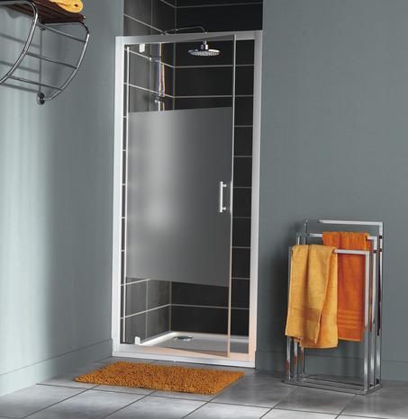 porte de douche pivotante reversible en verre 190 x 90 cm cooke and lewis