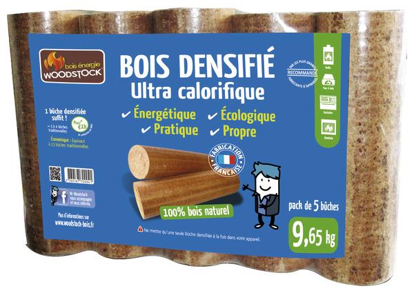 Bois Densifie Pack De 5 Buches 9 65 Kg Brico Depot