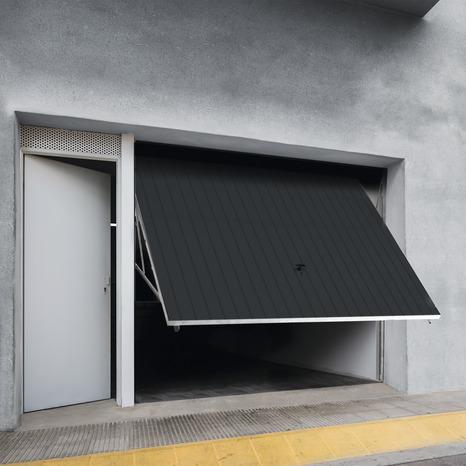 Porte De Garage Basculante Manuelle H 200 Cm L 240 Cm Grise Brico Depot