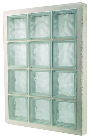 Panneau Prefabrique 6 Briques De Verre H 47 X L 67 X Ep 8 Cm Brico