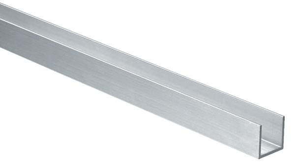 Profile En U Aluminium Brut L 1 M 20x20 Mm Interieur 17 Mm Brico Depot