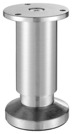 pied en aluminium brosse o 38 mm h 100 mm reglable handix