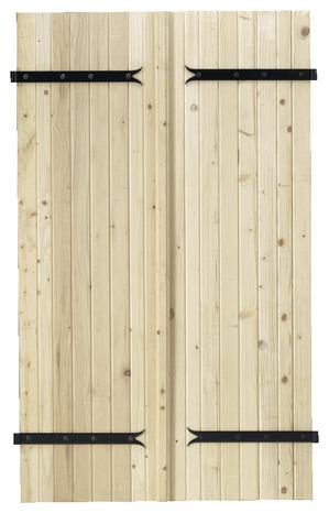 Volet Battant En Bois De Sapin Du Nord Epicea H 2 15 M L 1 40