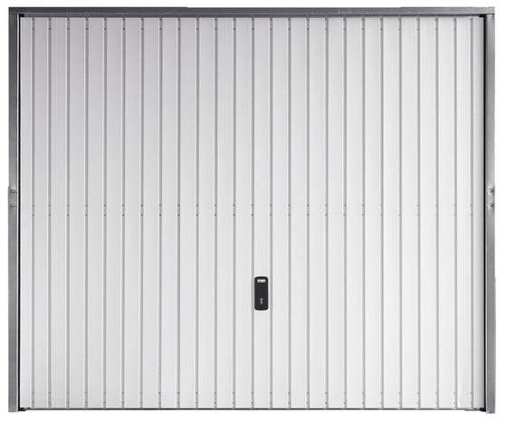 Porte De Garage Basculante En Acier Blanc Galvanise 2 X 2 375 M Brico Depot