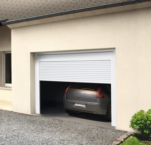 Porte De Garage A Enroulement Motorise Larg 240 X Haut 200 Cm Brico Depot