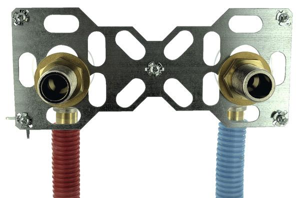 systeme de fixation de robinet pour tube per o 16 mm embout male 20x27 mm noyon et thiebault