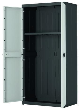 armoire haute en resine a 1 tablette charge max 50 kg concepto