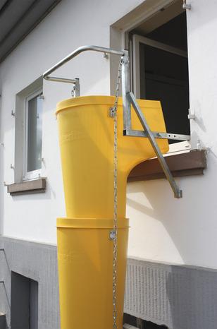 Kit De 6 Goulottes Tremie De Chargement Et Support De Fenetre Pour Evacuation Des Gravats Brico