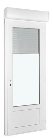 Porte Fenetre Pvc Blanc 1 Vantail Tirant Gauche Larg 80 X Haut 215 Cm Avec Volet