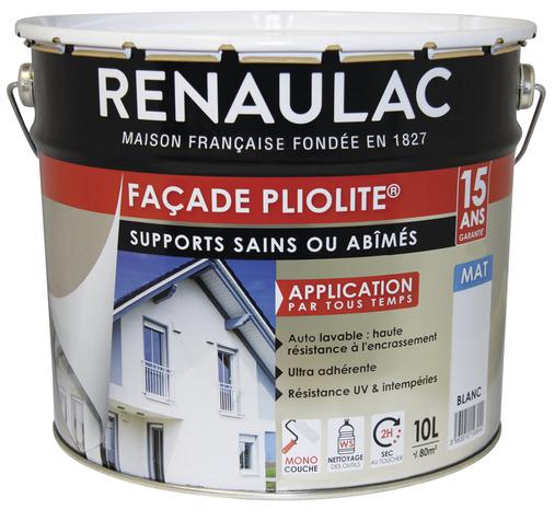 Peinture De Facade Pliolite Blanc Mat Monocouche 10 L Brico Depot