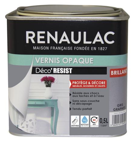 Vernis Opaque Brillant Gris Graphite Ultra Resistant Aux Chocs Aux Taches Et A L Eau 0 5 L Brico Depot