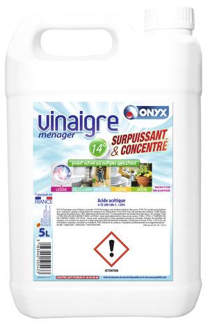 vinaigre menager detartrage nettoyage 5 l onyx
