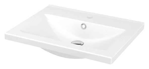 Plan Vasque A Encastrer En Ceramique Nira L 60 4 X H 12 4 X P 45 5 Cm Brico Depot