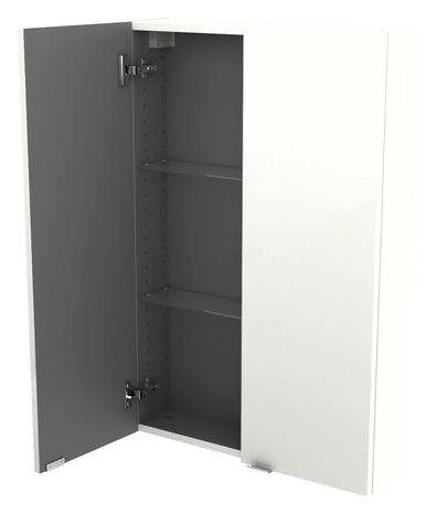 armoire de salle de bains imandra blanc l 60 x h 90 x p 15 cm goodhome