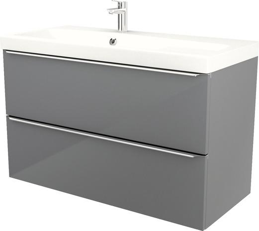 meuble sous vasque a suspendre gris imandra l 100 x h 60 x p 45 cm goodhome