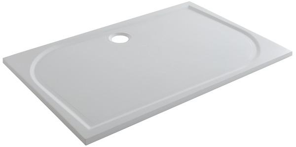 receveur de douche rectangulaire extraplat 120 x 80 cm en resine goodhome