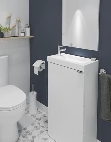 lave mains a poser blanc imandra l 44 x h 79 x p 23 cm l 44 x h 79 x p 23 cm blanc goodhome