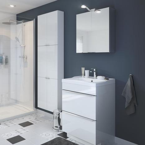 armoire de salle de bains blanc imandra l 60 x h 60 x p 15 cm goodhome