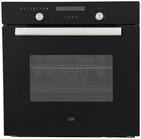 four multifonction noir a chaleur tournante 3000 w cooke and lewis