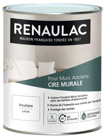 Cire Murale Acrylique A Teinter Satin Pour Enduit Decoratif Blanc 1 L Brico Depot
