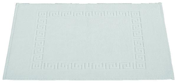 tapis de bain blanc en coton eponge