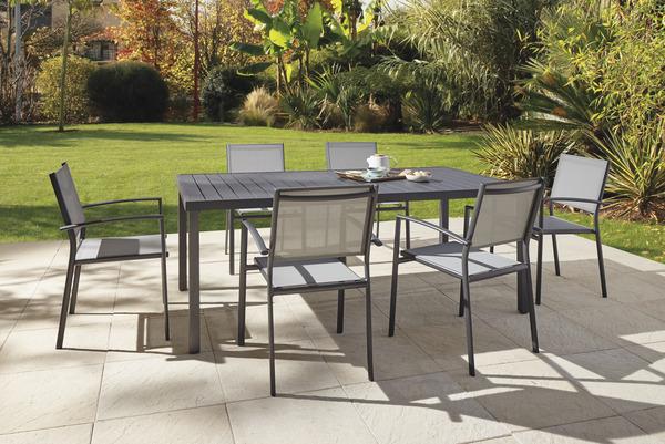 table de jardin en aluminium tanna 6 a 8 personnes blooma
