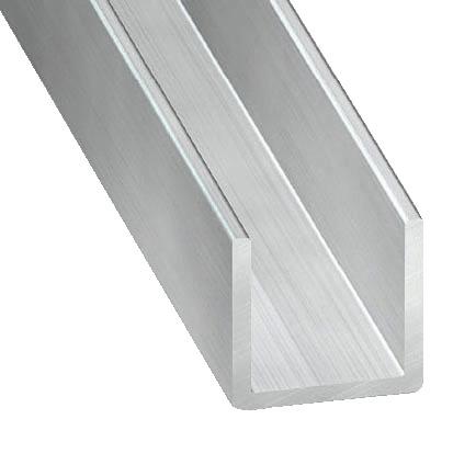 Profile En U Aluminium Brut L 2 50 M 15x20x15 Mm Interieur 17 Mm Brico Depot
