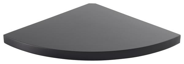 tablette d angle noire l 25 x p 25 cm