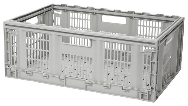 Foldie Casier Gerbable Pliable Gris 50 L L 59 7 X P 39 8 X H 22 9 Cm Brico Depot
