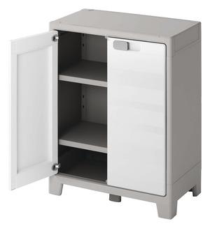 armoire basse en resine major h 100 x l 80 x p 44 cm form