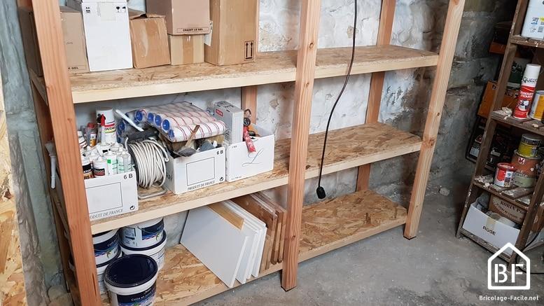 fabriquer des etageres de rangement en