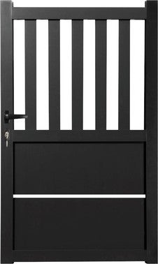 portail aluminium catane noir sable 1 30x3 00 m