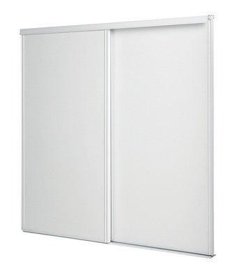 kit portes de placard coulissantes blanches 2 vantaux sous combles 10x1200x1200mm