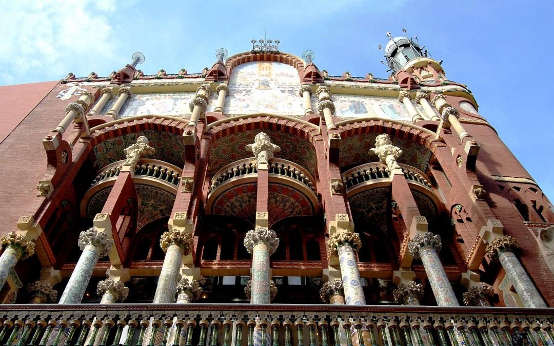 Obras de restauración en el Palau de la Música