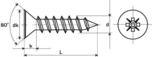 Tornillos para madera DIN-7505A