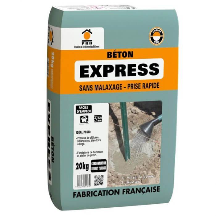 beton rapide sans malaxage pratique