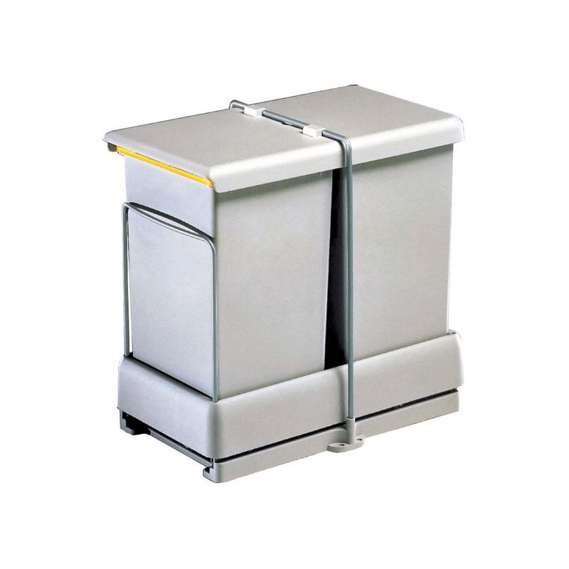 Poubelle Coulissante A Ouverture Automatique 2 Bacs 28 L Gollinucci Bricotoo