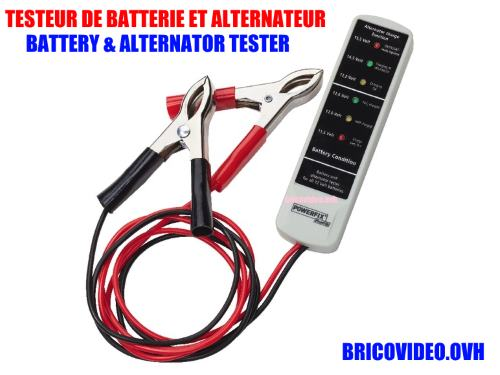 testeur batterie et alternateur lidl powerfix pawsb 12 accessoires test avis prix notice. Black Bedroom Furniture Sets. Home Design Ideas