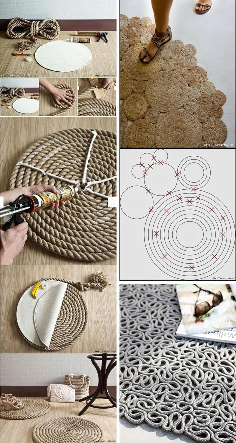 hacer alfombras con cuerdas