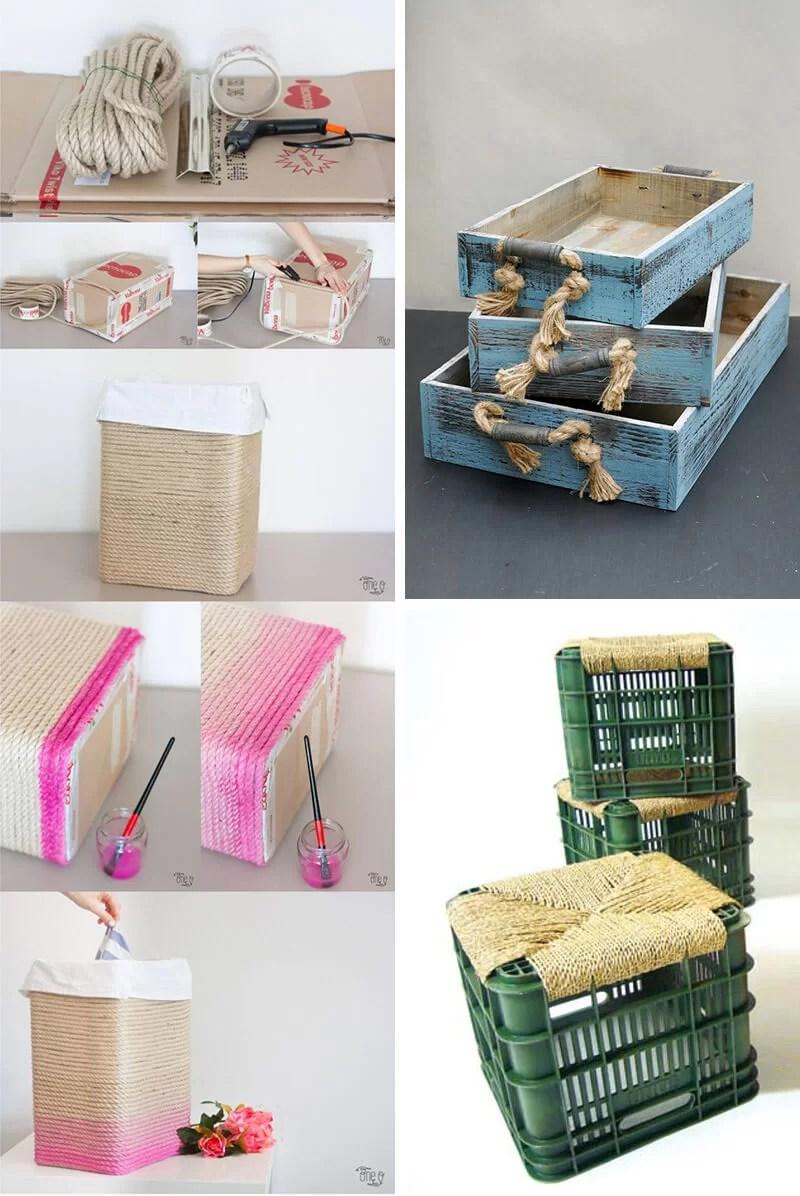 55 mejores ideas para decorar con cuerdas enjulio - Decoracion con cuerdas ...