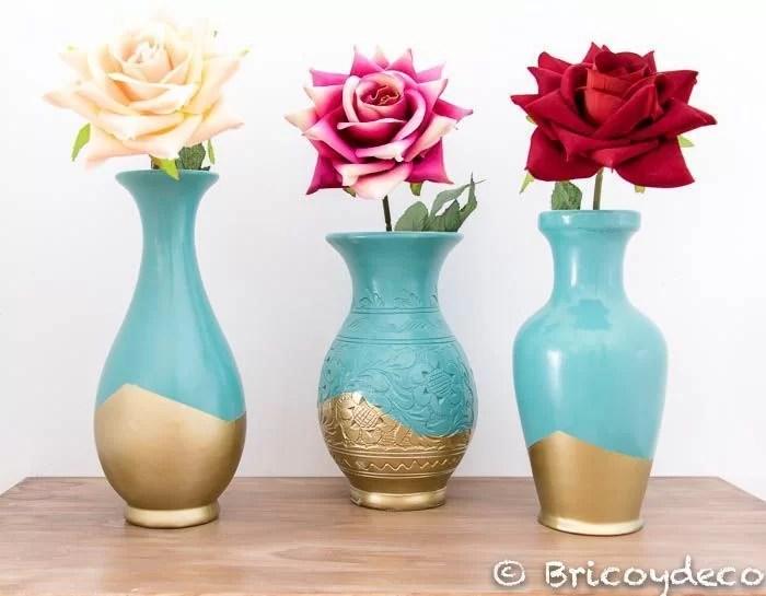 Como Reciclar Jarrones De Ceramica Y Renovarlos Con Pintura En Spray - Jarrones-decoracion