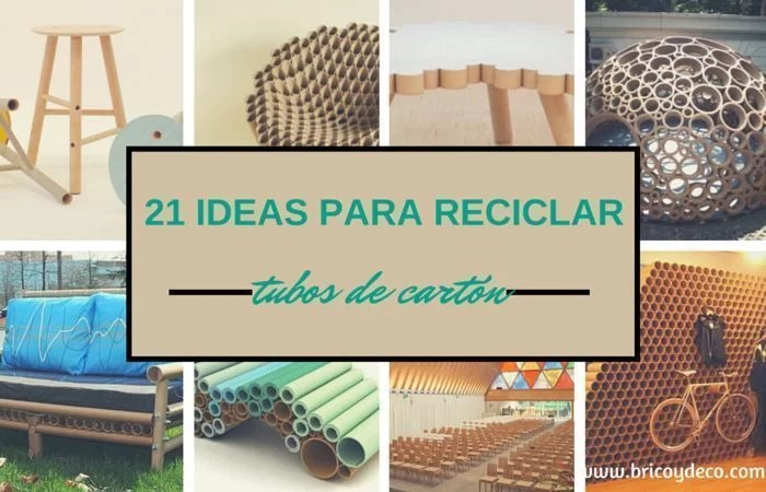 21 ideas para reciclar tubos de cart n for Como reciclar una mesa de tv vieja